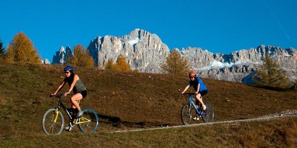 Kurze aber abwechslungsreiche Mountainbikerunde zum Wuhnleger oberhalb von Tiers.