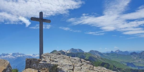 Das erreichte Ziel mit Gipfelkreuz