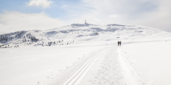 Winter hiking trail on one of the largest high plateaus of Europe.