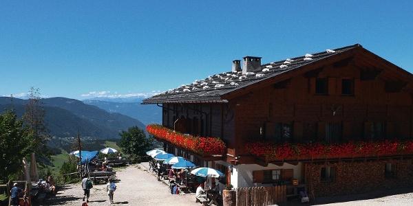 The Hofer Alpl mounatin inn, not far from Völser Weiher lake.