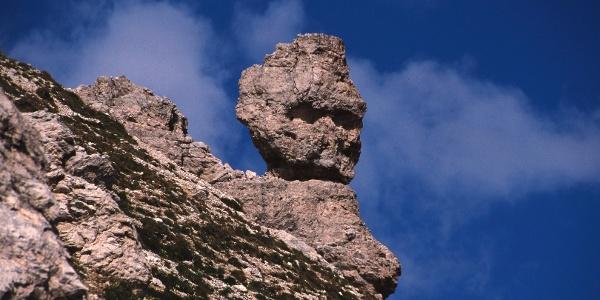 Felsformation auf dem Weg zur Puezhütte