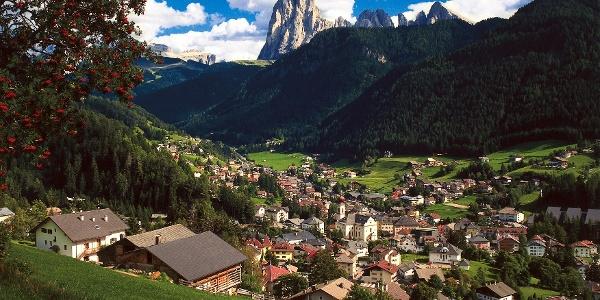 San Giacomo village of Val Gardena valley.