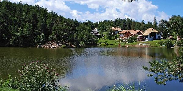 The Wolfsgruber lake at Renon.