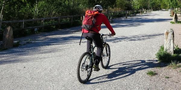 Die Tour verläuft vorwiegend den schönen Radweg entlang.
