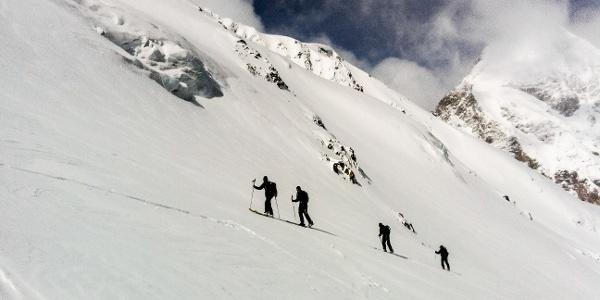 Einfache Skitour über den Suldenferner auf die Suldenspitze im Ortlergebiet.