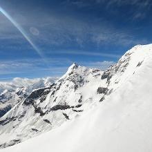 Gipfelgrat zum Hohen Tenn. Hinten das Große Wiesbachhorn.