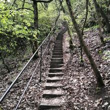 Lépcsősor a barlangokhoz, 2021. május 1.