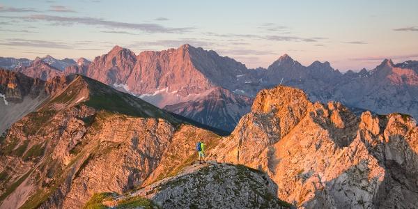 Traumblick von der Schöttelkarspitze zum Karwendel