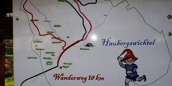 Start an der Wandertafel in Walpersdorf