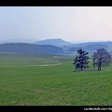 Landschaft nach Osten vom Weg zwischen Steffelner Drees und Aussicht Duppacher Höhe