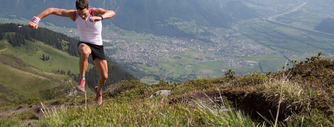 Alpöhi's Trail mit Aussicht auf das St. Galler Rheintal