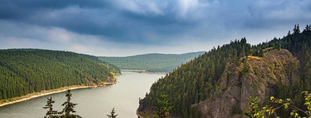 Hohenwarte reservoir in Thuringia