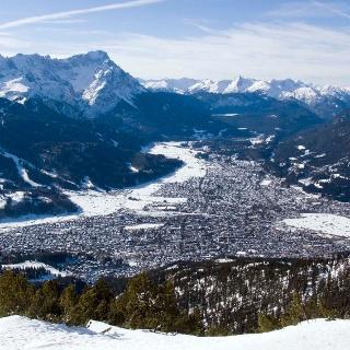 Vom Wank hat man die schönsten Blicke auf Garmisch-Partenkirchen.
