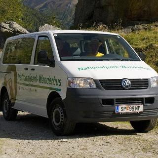 Nationalpark Wanderbus Haltestelle Gradental