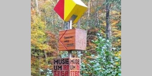 Wegweiser Spazierweg Ritter