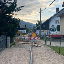 Road closed after 3.5kms of departure Jesenice.