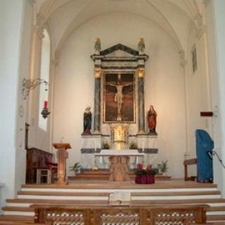 Bludenz, Dominikanerinnenkloster Sankt Peter, Kirche und Wirtschaftsgebäude