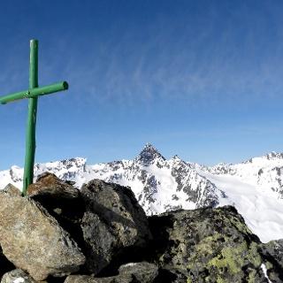 Gipfelpanorama am Nördlichen Daunkogel - Hinten Mitte: Wilde Leck.