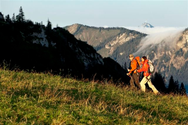 Wandern von Brannenburg aus - Familienwanderung am Inndamm