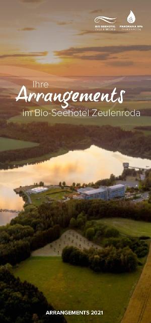 Cover Flyer Arrangements im Bio-Seehotel Zeulenroda