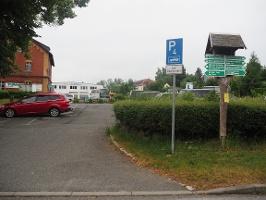 Foto Parkplatz alter Bahnhof Hohnstein