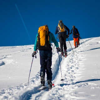 Im Gänsemarsch in Richtung Gipfel