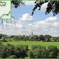 Blick vom Königsberg auf Kloster Steinfeld