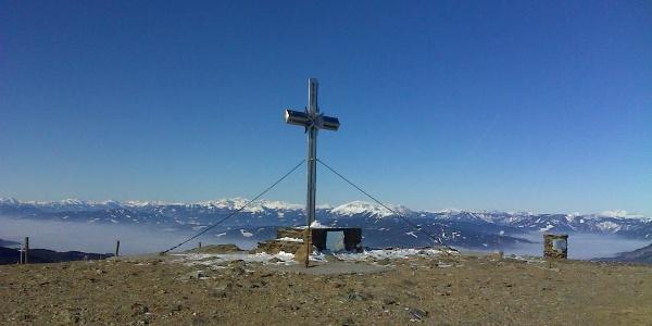 Gipfelkreuz am Stuhleck beim Alois Günther Haus