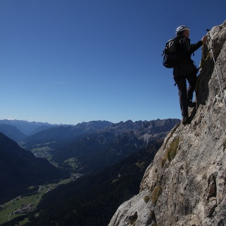 Luftige Höhen trotz 100m Wandhöhe