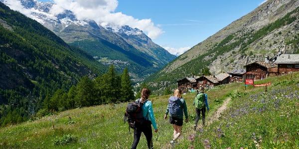 Almageller Erlebnisweg - Start bei Furggstalden