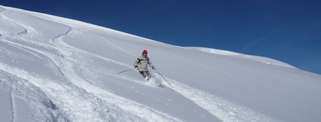 Freeriden im Val de Larice.