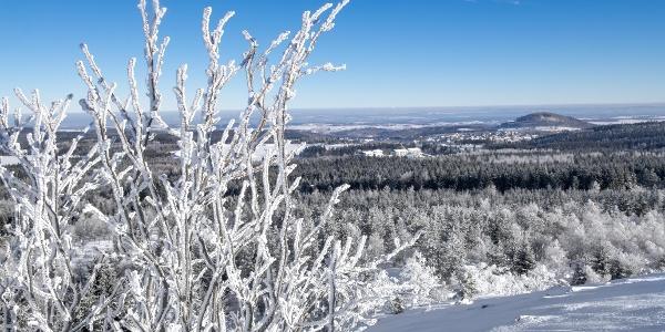 Aussicht aus dem Kahleberg im Winter