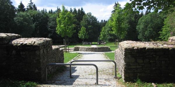 Blick auf das Römerkastell Feldberg