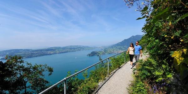 Bürgenstock Felsenweg mit Aussicht