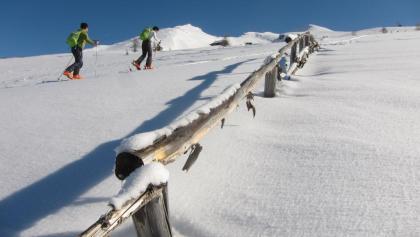 Aufstieg über den breiten Westrücken zum Vorgipfel der Flatschspitze.