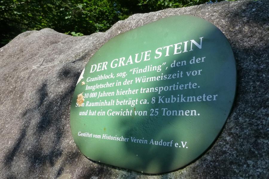 Rundwanderung zum Naturdenkmal Grauer Stein - eine herrliche Wanderung von Niederaudorf aus