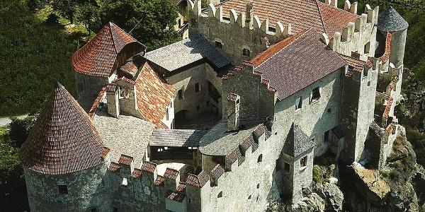 The Castelbello castle lies on a hill.