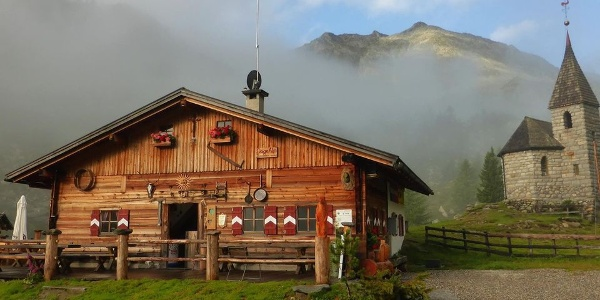 The idyllic Göge Alm is beautifully located in Weißenbach, Ahrntal.