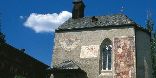 The St. George church in Taisten in Val Pusteria, a noteworthy sight