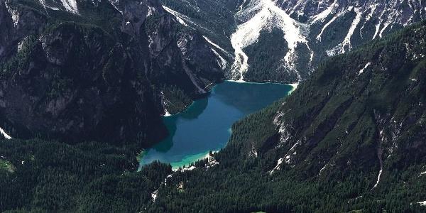 A wild beauty - Lake Braies - Pragser Wildsee at the foot of the mighty Seekofel.