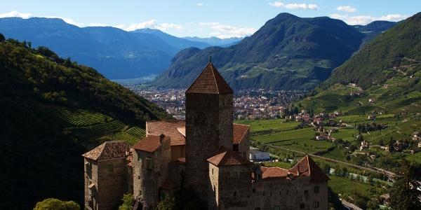 From Castello di Cornedo Castel the view over Bolzano is amazing.