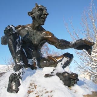 Bronzeteufel auf dem Hexentanzplatz