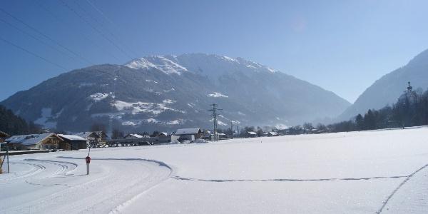 "Höhe Heizkraftwerk ""Naturwärme Montafon"" Blick Richtung Hochjoch"