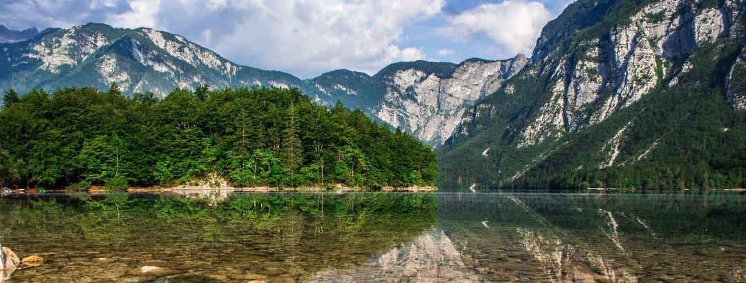 Wandern am Bohinj-See in den Julischen Alpen