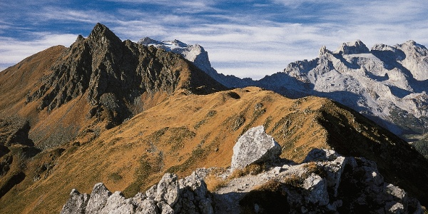 Über den Schwarzhornsattel führt der Weg zur Tilisunahütte