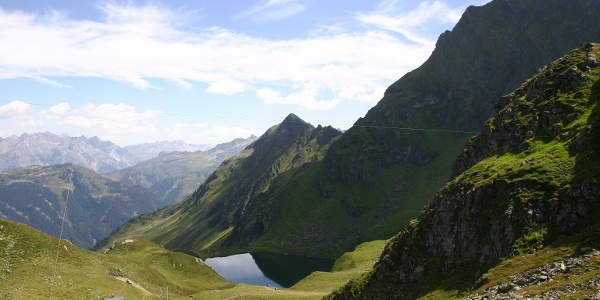 Lake Schwarzsee - on the left side is the small lake Kälbersee