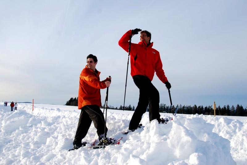 Winter - Höchenschwand: Höchenschwander Schneeschuhtrail - kleine Runde -