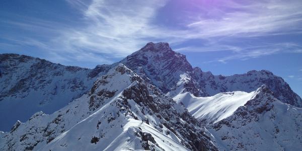 Panüeler Kopf, 2.859 m, Blick vom Joch Richtung Süden