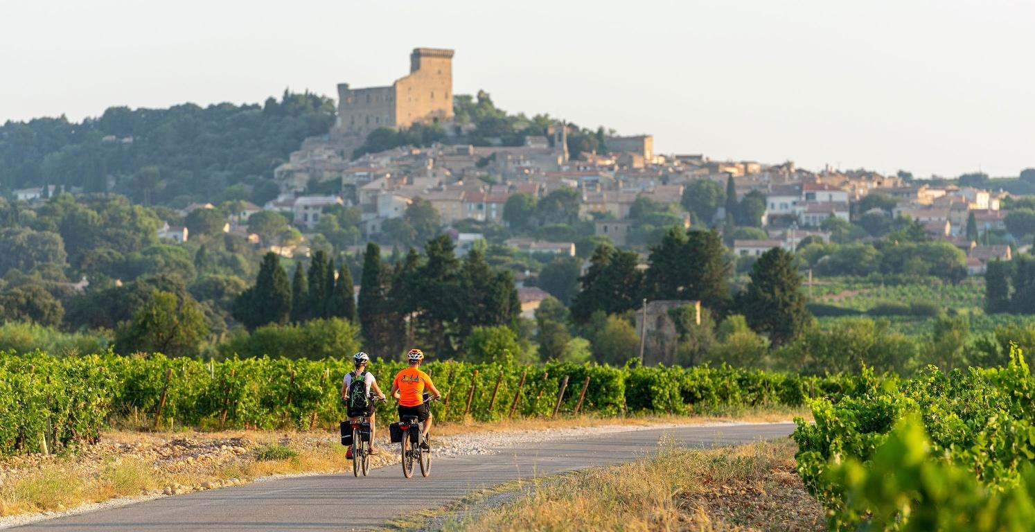 Cyclists on the ViaRhôna