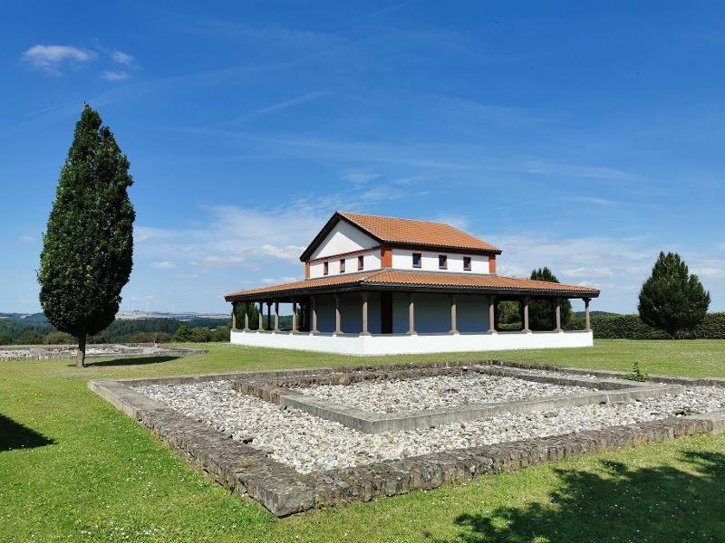 Foto: Gallorömische Tempelanlage Martberg